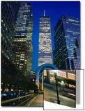 World Financial Center Evening Close-Up Color Art by Henri Silberman