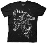 Dragon Ball Z- White Line Goku Shirt
