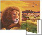 Big Buck Safari Cabinet Art Wood Print by John Youssi