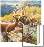 Big Buck HD Cabinet Art Wood Print by John Youssi