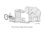 """Once you learn, though, you'll never forget."" - New Yorker Cartoon Premium Giclee Print by Charlie Hankin"