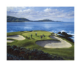 7th Hole Pebble Beach, California Premium Giclee Print by Peter Munro