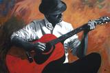 The Guitar Player Wydruk giclee autor Shawn Mackey