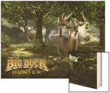 Big Buck Whitetail Deer with Logo Wood Print by Mike Colesworthy