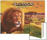 Big Buck Safari Cabinet Art with Logo Wood Print by John Youssi