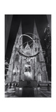 Atlas Statue St. Patrick's Cathedral Night Panorama Photographic Print by Henri Silberman