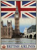 The Portmanteau Collection - Vintage Travel London - Giclee Baskı