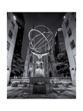 Atlas Statue St. Patrick's Cathedral Night Photographic Print by Henri Silberman
