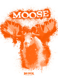 Moose Spray Paint Orange Plastic Sign by Anthony Salinas