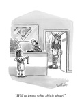 """Will he know what this is about?"" - New Yorker Cartoon Premium Giclee Print by Liam Walsh"