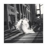 Manhattan Steam Vent Man Photographic Print by Henri Silberman