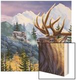 Big Buck Pro Open Season Cabinet Art Wood Print by John Youssi