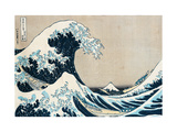 "The Great Wave of Kanagawa, from the Series ""36 Views of Mt. Fuji"" (""Fugaku Sanjuokkei"") Metal Print by Katsushika Hokusai"