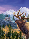 Big Buck Pro Open Season Cabinet Art Decalcomania da muro di John Youssi