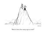 """Want to know how many steps we took?"" - New Yorker Cartoon Premium Giclee Print by Alex Gregory"