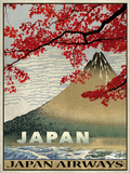 Vintage Travel Japan Giclée-tryk af The Portmanteau Collection