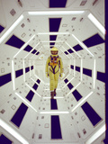 "Actor Gary Lockwood in Space Suit in Scene from Motion Picture ""2001: A Space Odyssey"" Konst på metall av Dmitri Kessel"