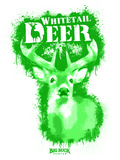Whitetail Deer Spray Paint Green Autocollant par Anthony Salinas