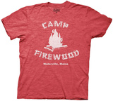 Wet Hot American Summer- Camp Firewood (Suede Puff Lettering) Shirt