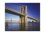 Brooklyn Bridge Afternoon Color Photographic Print by Henri Silberman