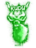 Kudo  Spray Paint Green Plastic Sign by Anthony Salinas