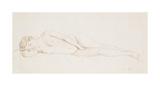 Nu Feminin Couche Premium Giclee Print by Felix Edouard Vallotton