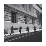 Wall Street Walkers, Manhattan Photographic Print by Henri Silberman