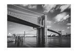Brooklyn Bridge Afternoon Clouds Photographic Print by Henri Silberman