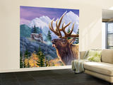 Big Buck Pro Open Season Cabinet Art Wall Mural – Large by John Youssi