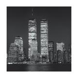 World Financial Center Evening Close-Up Fotografisk tryk af Henri Silberman