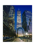 World Financial Center Evening Close-Up Color Photographic Print by Henri Silberman