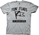 Big Bang Theory- Fun With Flags T-Shirt