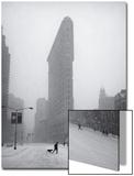Flatiron Building Blizzard Dog Walker Prints by Henri Silberman