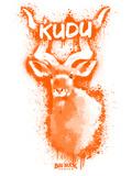 Kudo  Spray Paint Orange Plastic Sign by Anthony Salinas
