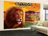 Big Buck Safari Cabinet Art with Logo Wall Mural – Large by John Youssi