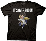 Dragon Ball Z- It'S Over 9000 Vegeta Shirts