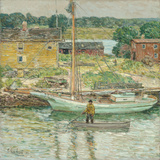 Oyster Sloop, Cos Cob 1902 Giclee Print by Frederick Childe Hassam