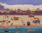 Santa Cruz Boardwalk Giclee Print by Barbara Olsen