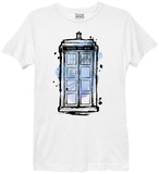 Ladies: Doctor Who- Ink Tardis T-Shirt by Ladies T-Shirt