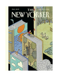 The New Yorker Cover - August 10, 2015 Regular Giclee Print by Joost Swarte