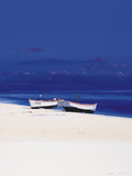 White Boats Giclee Print by Paul Evans