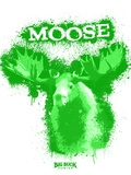 Moose Spray Paint Green Plastic Sign by Anthony Salinas