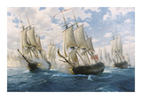 Battle of Chesapeake, 5th September 1781 Limited Edition by Steven Dews