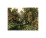 Diane's Cottage in June Premium Giclee Print by Louis Aston Knight