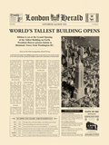 The Worlds' Tallest Building Opens Prints by  The Vintage Collection