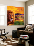 Big Buck Safari Cabinet Art Wall Mural by John Youssi