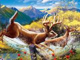 Big Buck HD Cabinet Art Decalcomania da muro di John Youssi