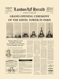 The Grand Opening Ceremony of the Eiffel Tower Giclée-tryk af The Vintage Collection