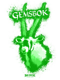 Gemsbok Spray Paint Green Autocollant par Anthony Salinas