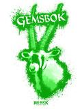 Gemsbok Spray Paint Green Decalcomania da muro di Anthony Salinas